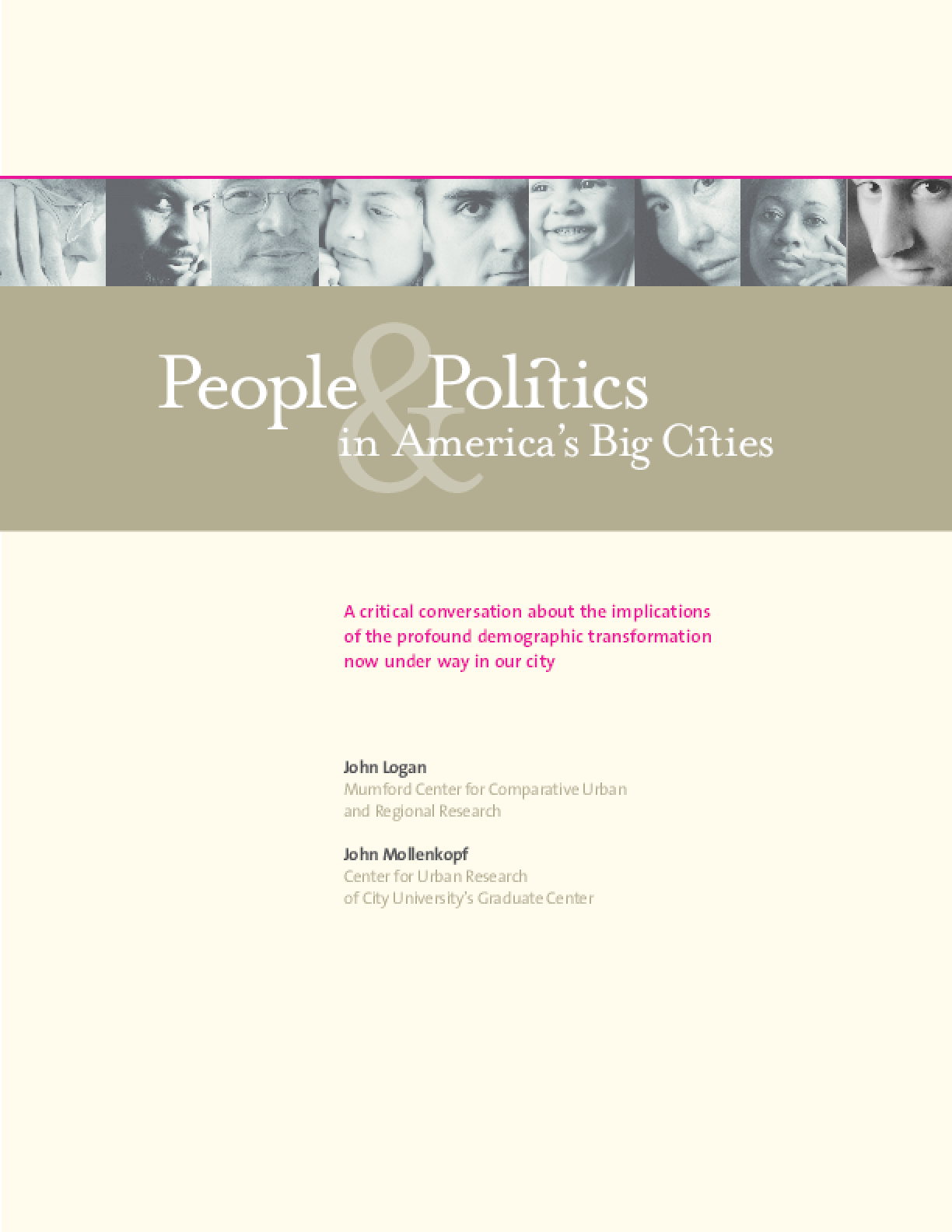 People & Politics in America's Big Cities