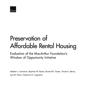 An Evaluation of MacArthur's Window of Opportunity: Preserving Affordable Rental Housing Initiative