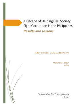 A Decade of Helping Civil Society Fight Corruption in the Philippines: Results and Lessons