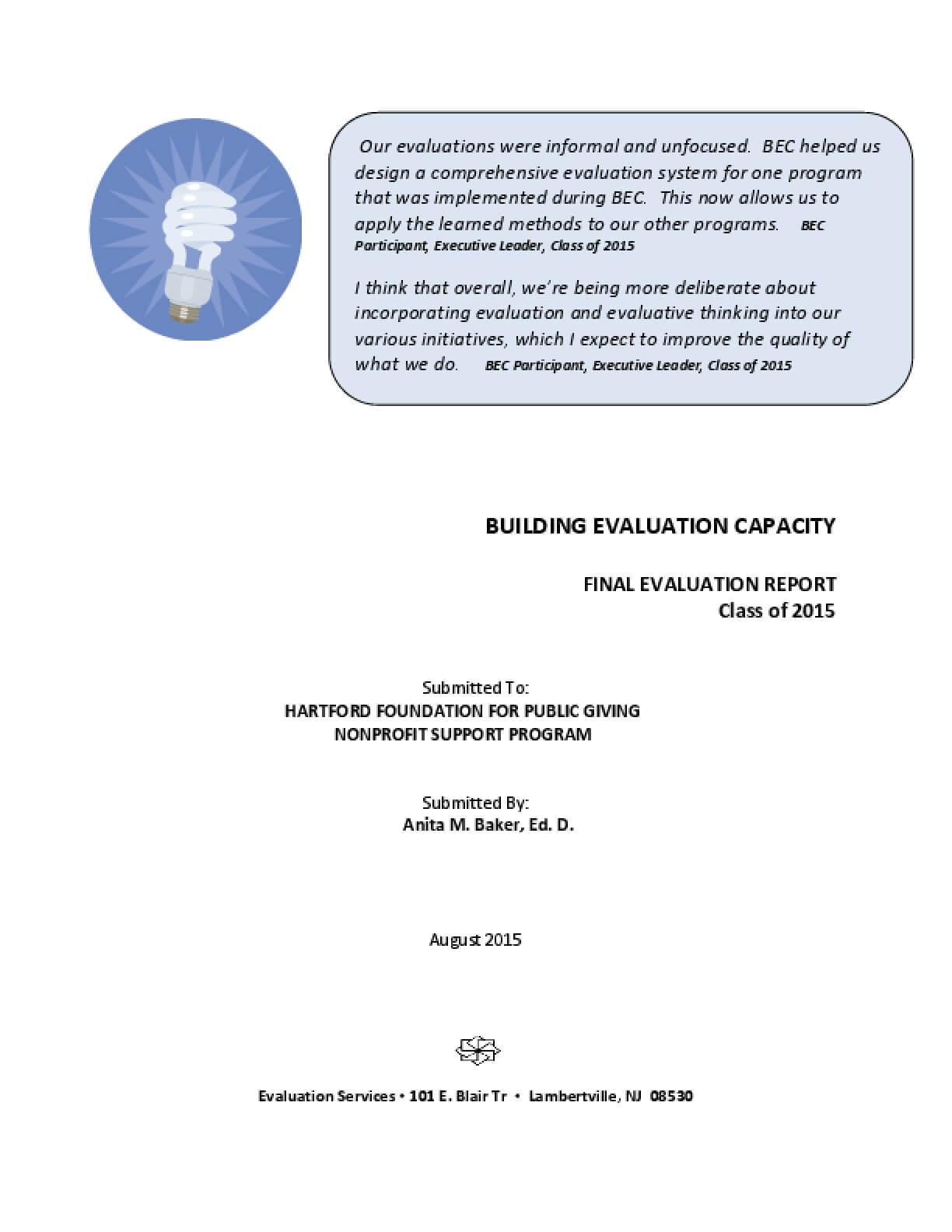 Building Evaluation Capacity Program