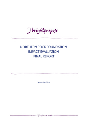 Northern Rock Foundation Impact Evaluation Final Report