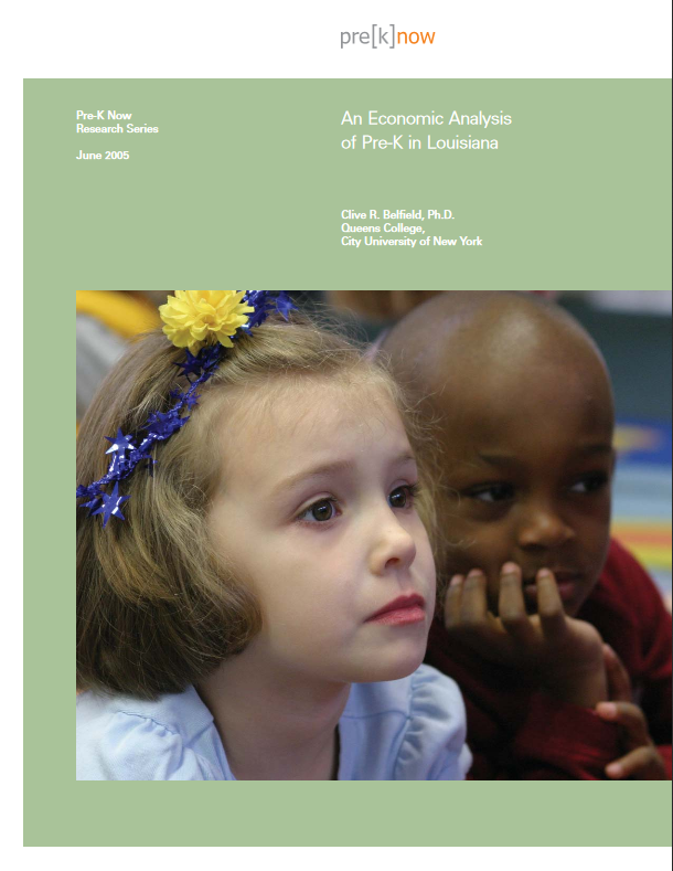 An Economic Analysis of Pre-K in Louisiana