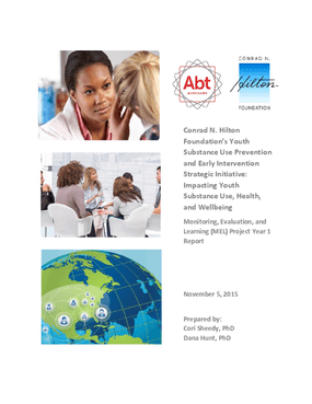 Substance Use Prevention Initiative: 2015 Evaluation Report, Year 1