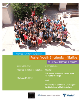 Foster Youth Strategic Initiative: 2015 Evaluation Report