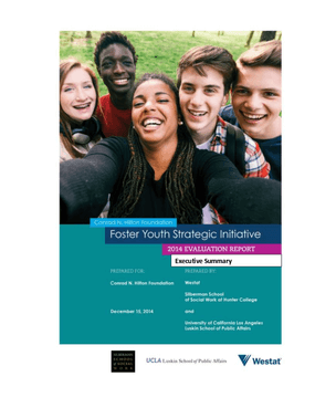Foster Youth 2014 Evaluation Report Executive Summary