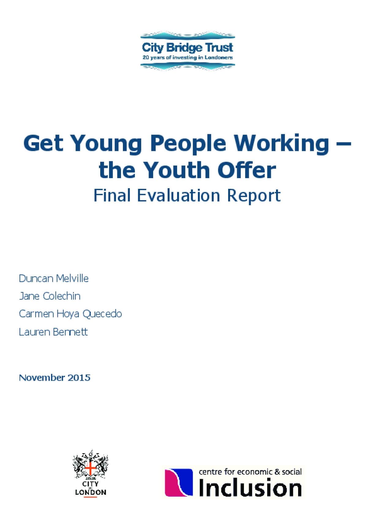 Get Young People Working - The Youth Offer, Final Evaluation Report