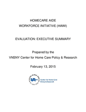 Homecare Aide Workforce Initiative (HAWI) Evaluation: Executive Summary