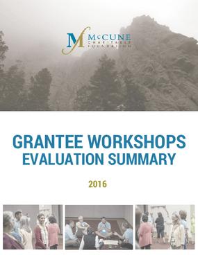 Grantee Workshops Evaluation Summary