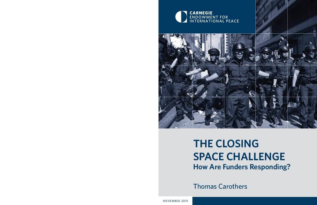 THE CLOSING SPACE CHALLENGE: How Are Funders Responding?