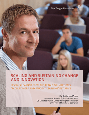 "Scaling and Sustaining Change and Innovation: Lessons Learned From The Teagle Foundation's ""Faculty Work and Student Learning"" Initiative"