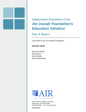 Independent Evaluation of the Jim Joseph Foundation's Education Initiative Year 4 Report