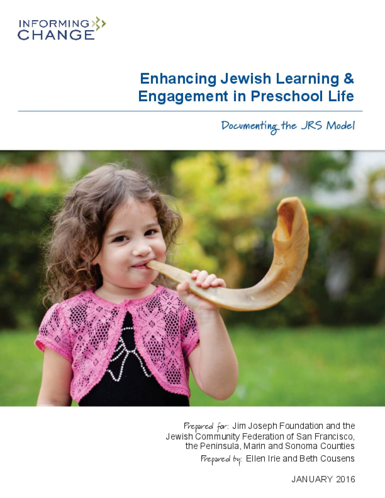 Enhancing Jewish Learning & Engagement in Preschool Life: Documenting the JRS Model