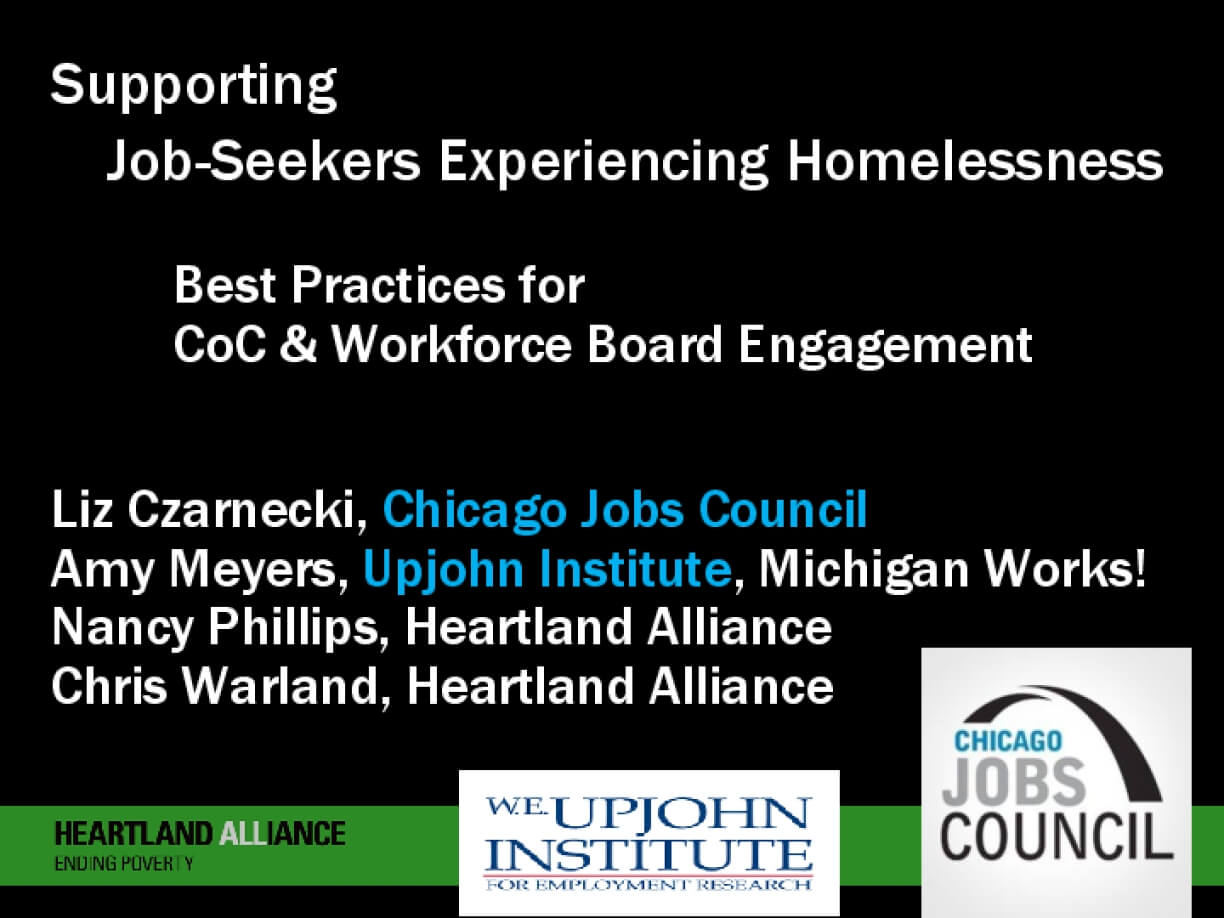Supporting Job-Seekers Experiencing Homelessness: Best Practices for CoC & Workforce Board Engagement