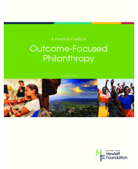 A Practical Guide to Outcome-focused Philanthropy