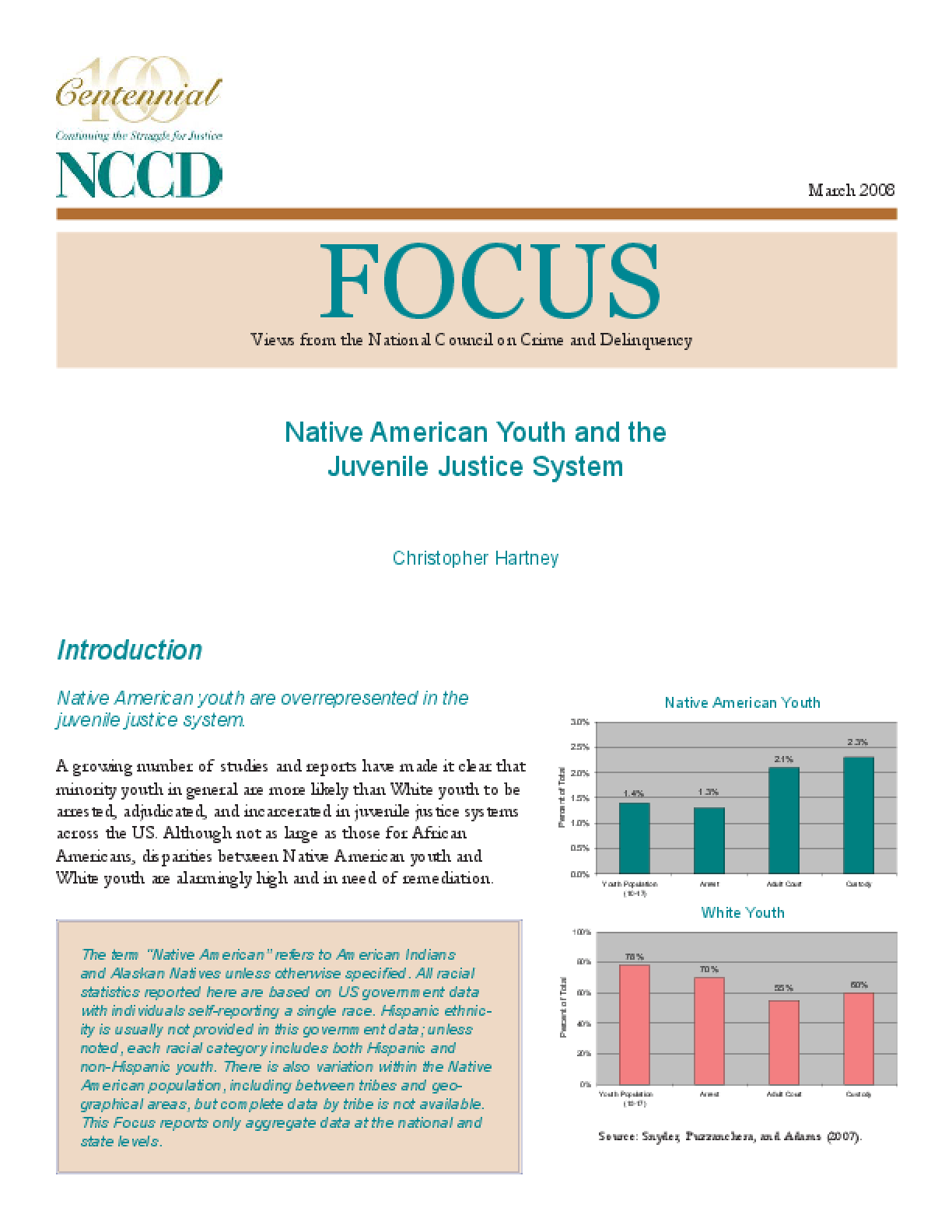 Native American Youth and Juvenile Justice System (FOCUS)
