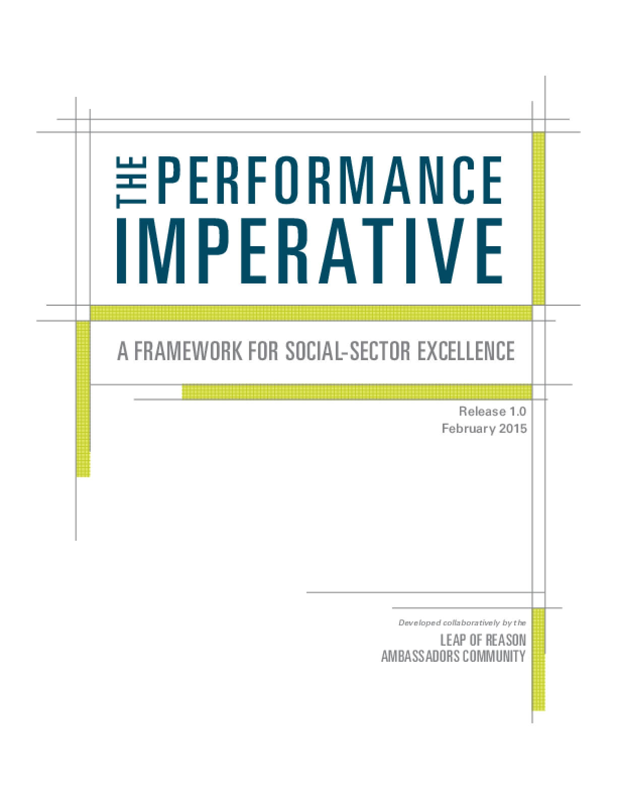 The Performance Imperative  A Framework for Social-Sector Excellence