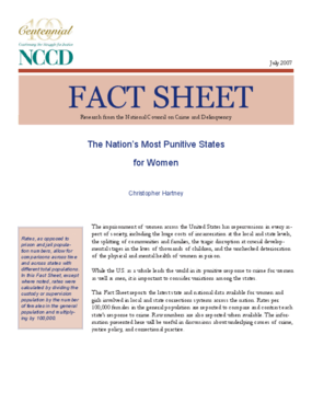 Fact Sheet: The Nation's Most Punitive States for Women