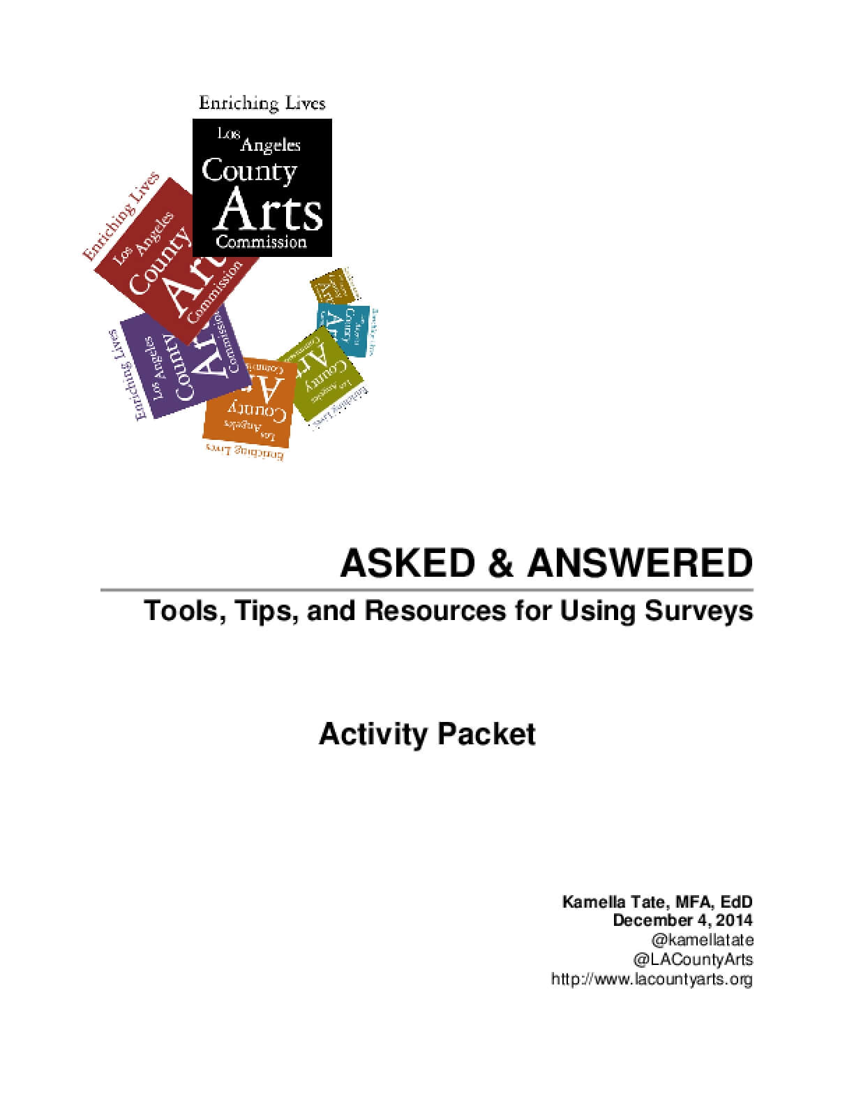 Activity Packet: Tools, Tips, and Resources for Using Surveys
