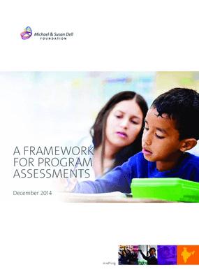 Framework for Program Assessments