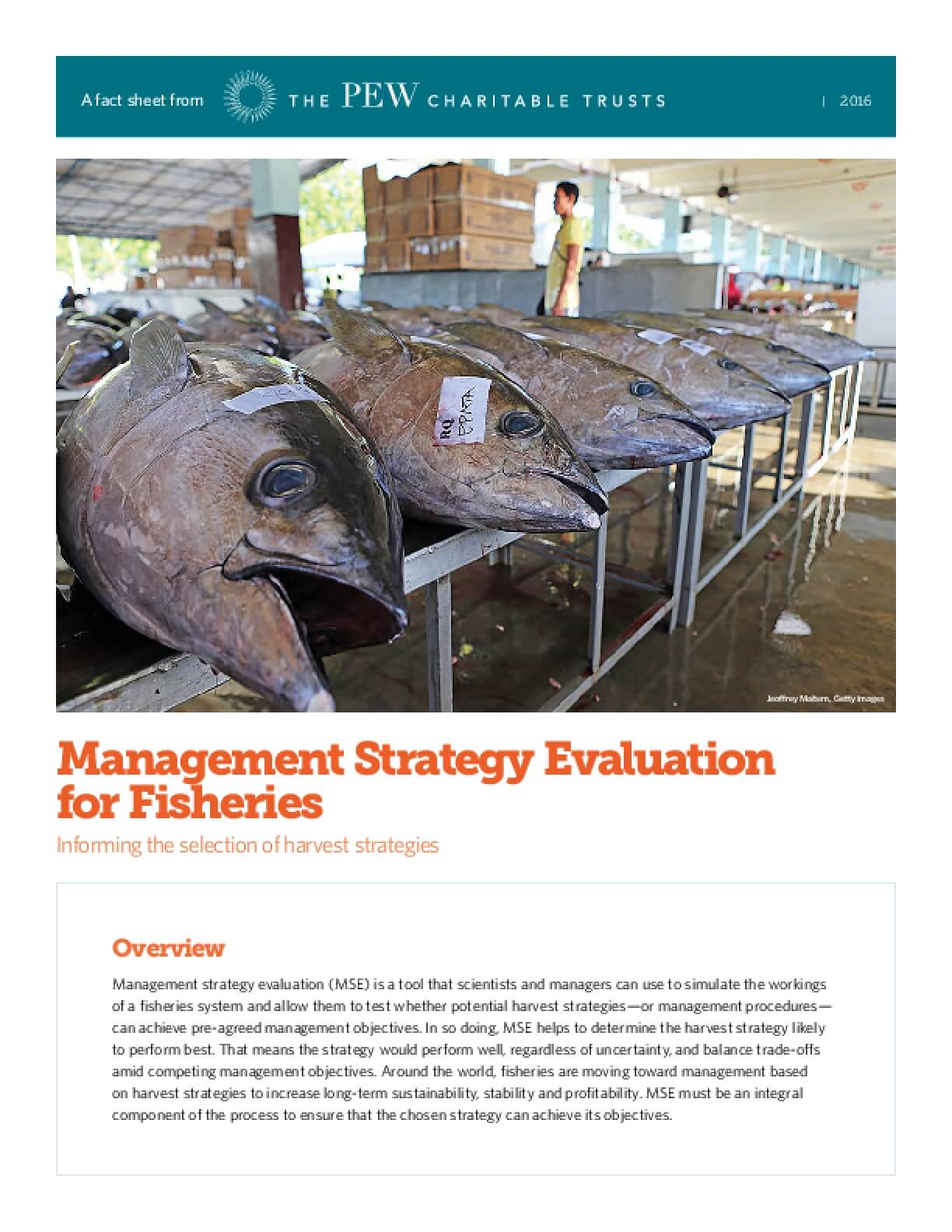 Management Strategy Evaluation for Fisheries: Informing the selection of harvest strategies