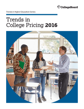 Trends in College Pricing 2016