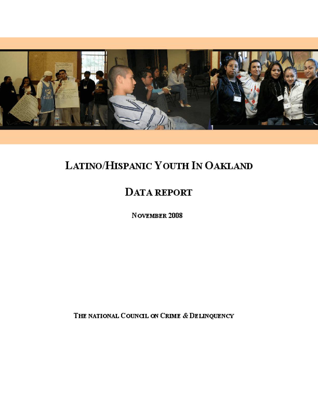 Latino/Hispanic Youth in Oakland (Data Report)