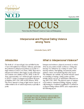 Interpersonal and Physical Dating Violence among Teens (FOCUS)