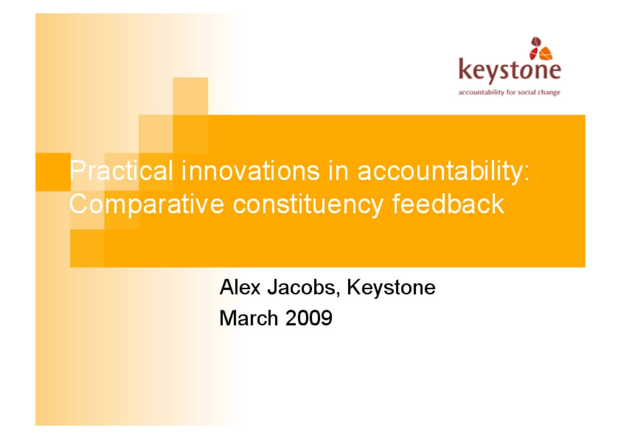 Practical Innovations in Accountability: Comparative Constituency Feedback