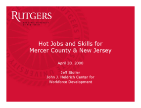 Hot Jobs and Skills for Mercer County & New Jersey