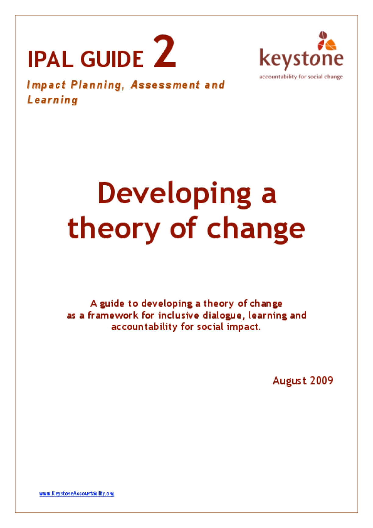 Developing A Theory of Change
