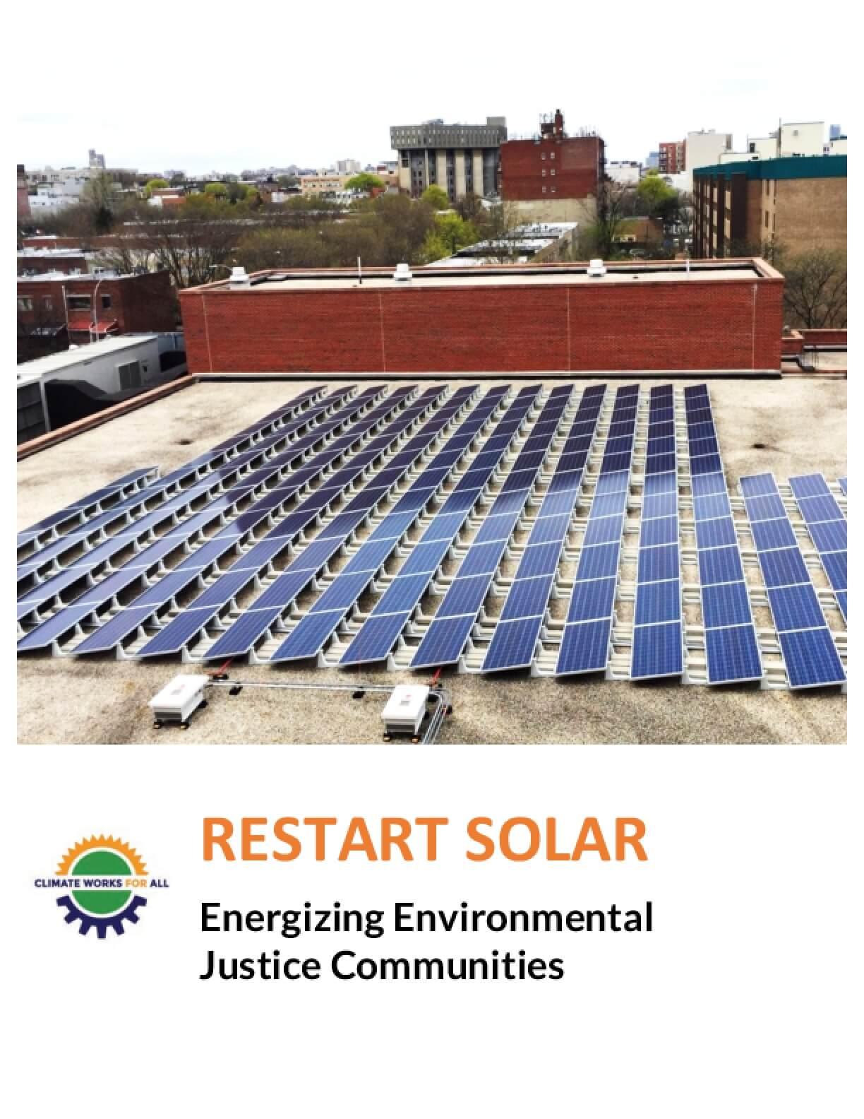 Restart Solar: Energizing Environmental Justice Communities