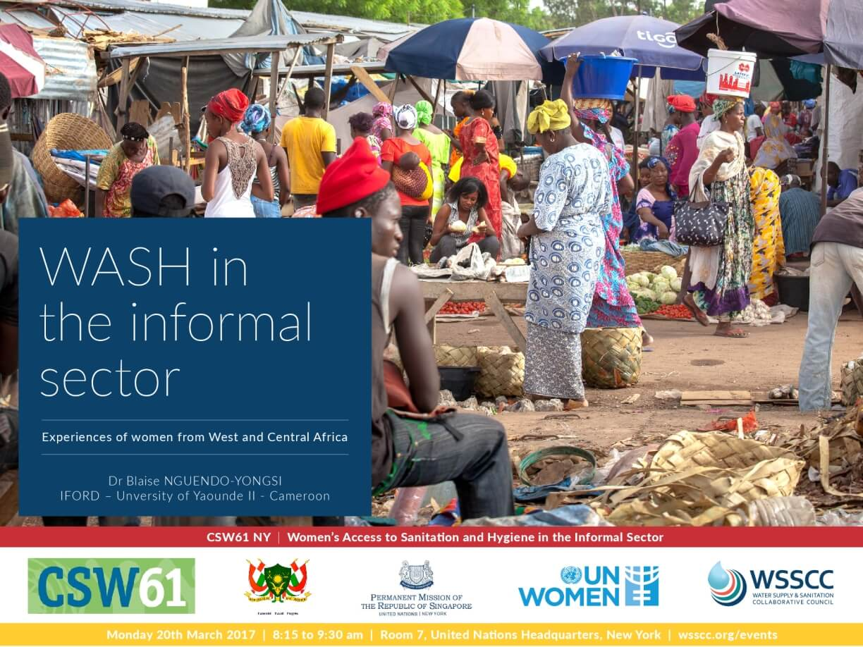 WASH in the Informal Sector: Experiences of Women from West and Central Africa