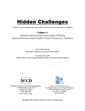 Hidden Challenges: Juvenile Justice and Education Issues Affecting Asian and Pacific Islander (API) Youth in Richmond, California