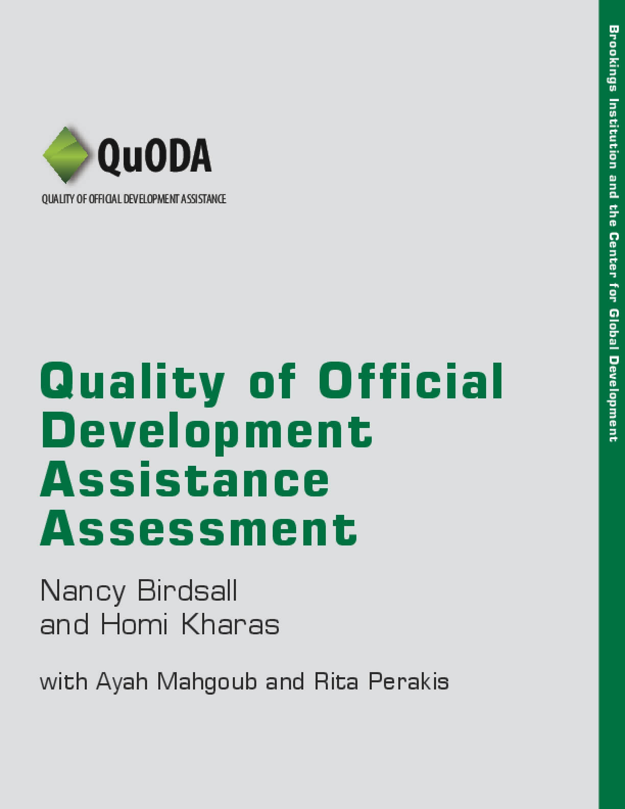 Quality of Official Development Assistance Assessment