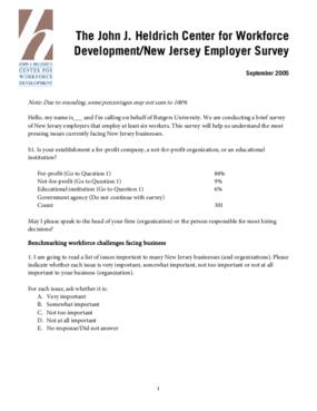 Heldrich Center 2005 New Jersey Employer Survey: Results