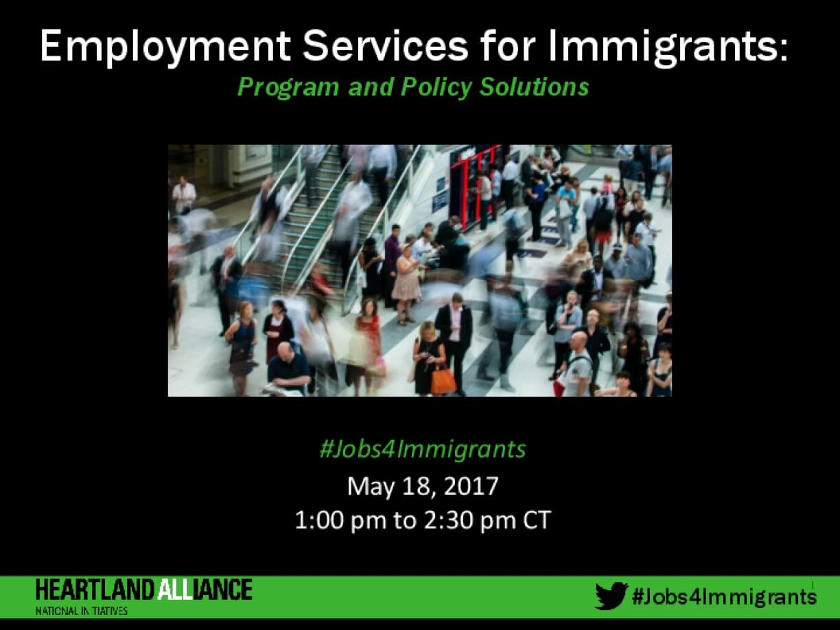Employment Services for Immigrants Webinar