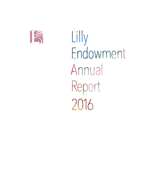 Lilly endowment Annual Report 2016
