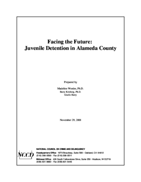 Facing the Future: Juvenile Detention in Alameda County