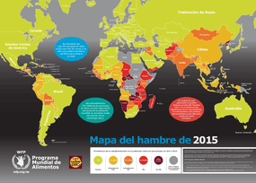 Hunger Map 2015, Spanish