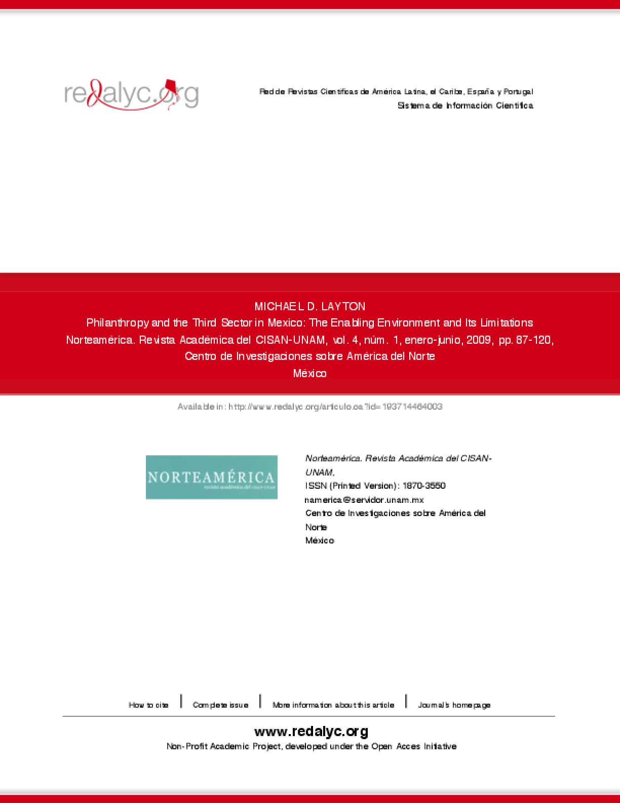 Philanthropy and the Third Sector in Mexico: The Enabling Environment and Its Limitations