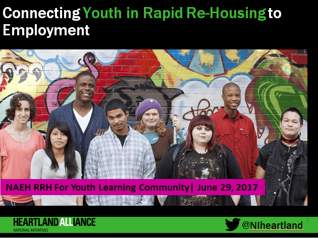 Connecting Youth in Rapid Re-Housing to Employment