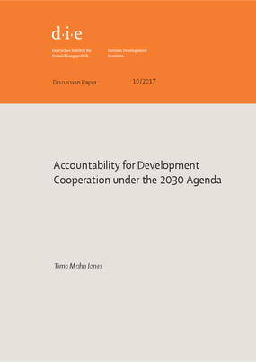 Accountability for Development Cooperation Under the 2030 Agenda