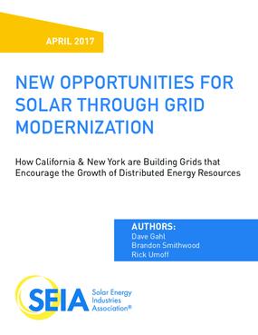 New Opportunities for Solar Through Grid Modernization