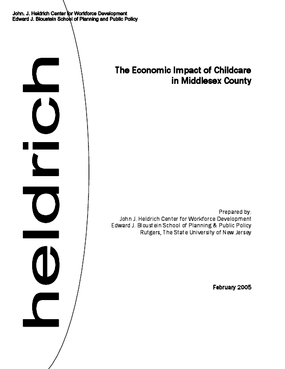 The Economic Impact of Childcare in Middlesex County, New Jersey