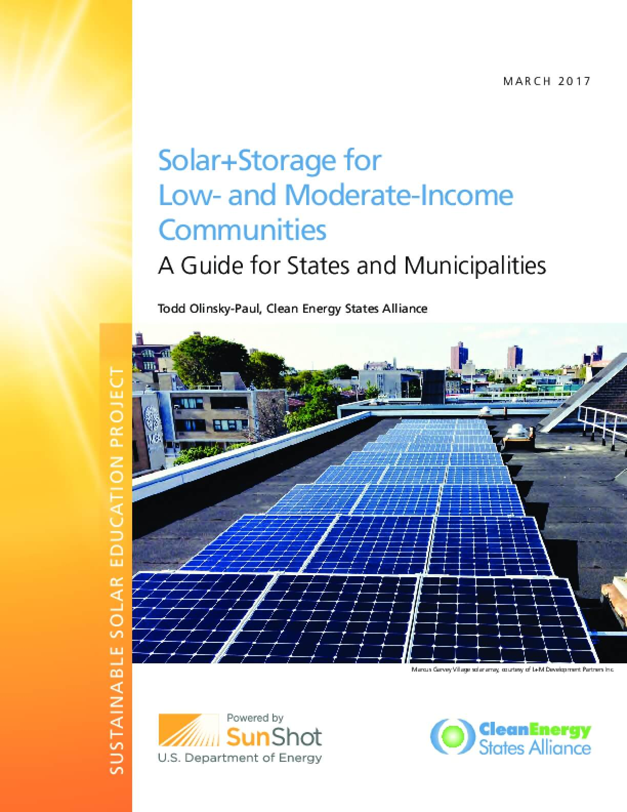 Solar+Storage for Low-and Moderate-Income Communities: A Guide for States and Municipalities