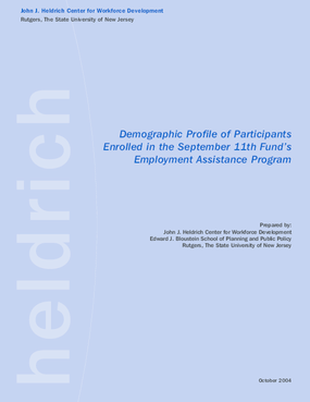 Demographic Profile of 9-11 Dislocated Workers