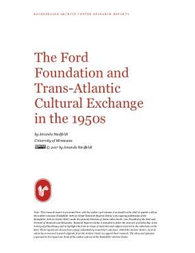 The Ford Foundation and Trans-Atlantic Cultural Exchange in the 1950s