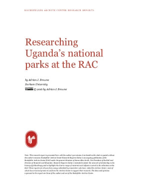 Researching Uganda's national parks at the RAC
