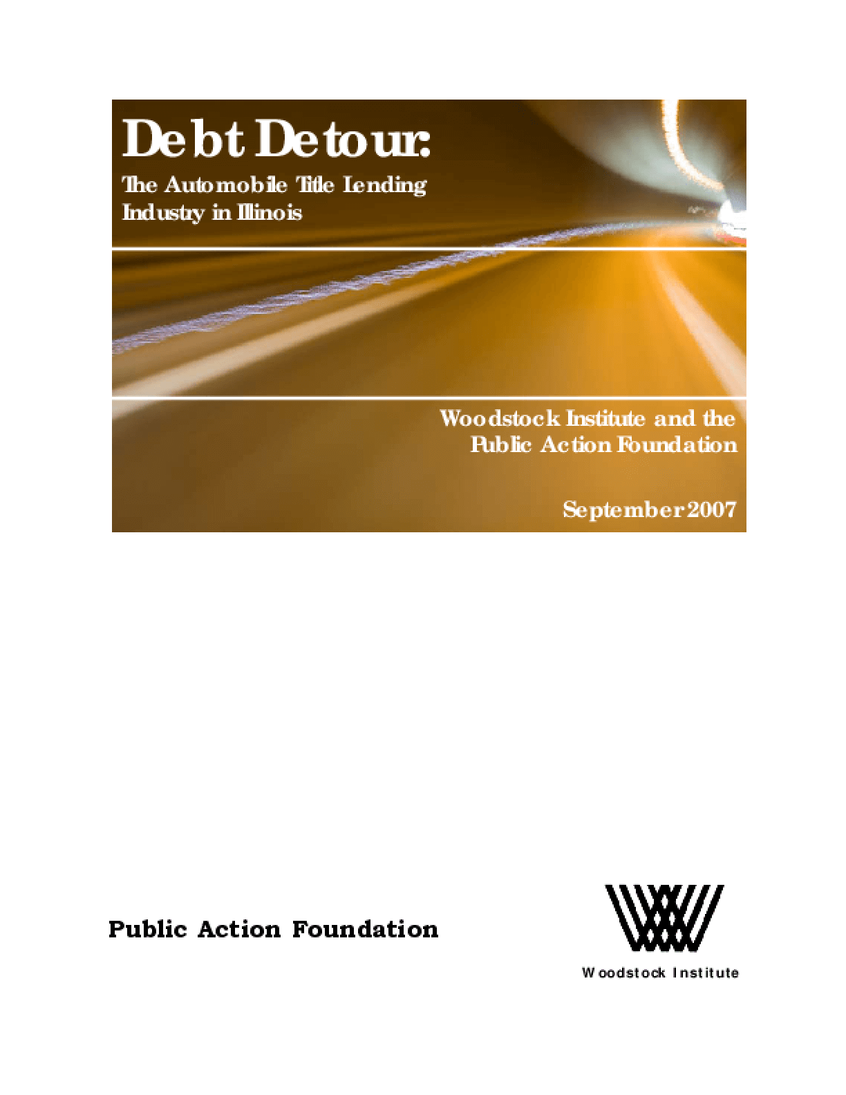 Debt Detour: The Automobile Title Loan Industry in Illinois