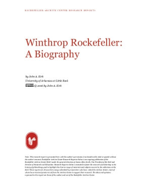 Winthrop Rockefeller: A Biography
